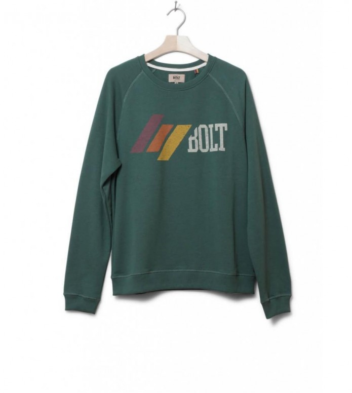 Lightning Bolt Sweater Bolt Shack Crew green trekking M