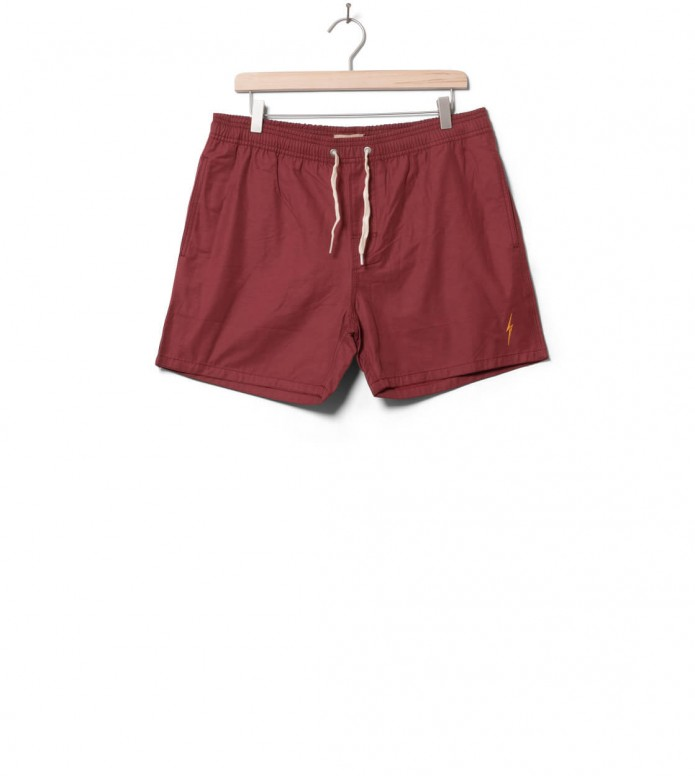 Lightning Bolt Shorts Plain Turtle red ruby wine 32