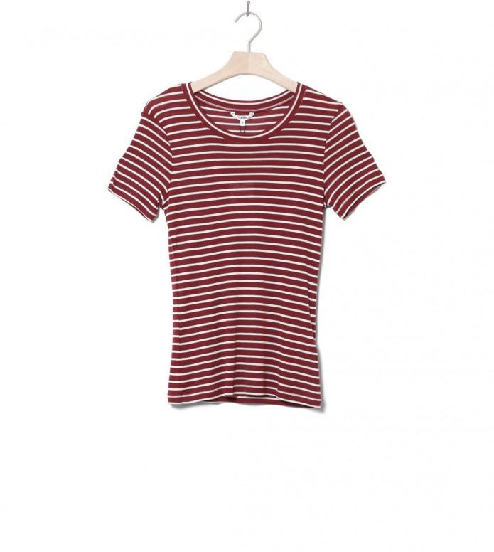 MbyM W T-Shirt Samira red fired sugar stripe