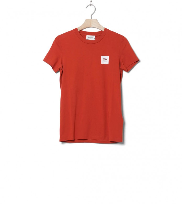 Wood Wood Wood Wood W T-Shirt Eden orange rust