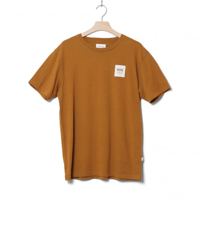 Wood Wood Wood Wood T-Shirt Box brown mustard