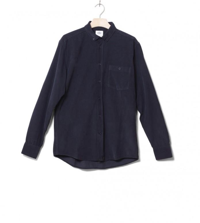 Klitmoller Shirt Benjamin Cord blue navy S