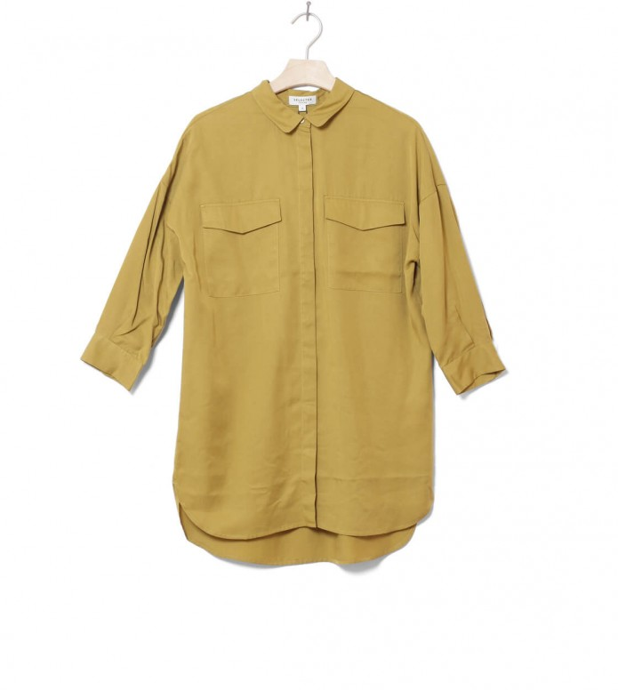 Selected Femme Shirt Slfdonna green ecru olive S