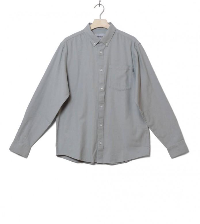 Carhartt WIP Shirt Dalton blue cinder heavy rinsed L