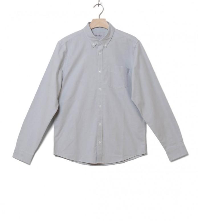 Carhartt WIP Shirt Button Down Pocket grey cloudy M
