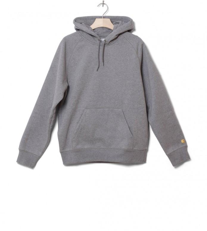 Carhartt WIP Hooded Sweater Chase grey dark heather