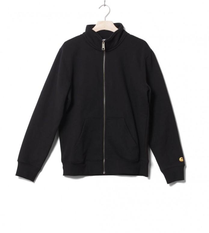Carhartt WIP Zip Sweater Chase black/gold