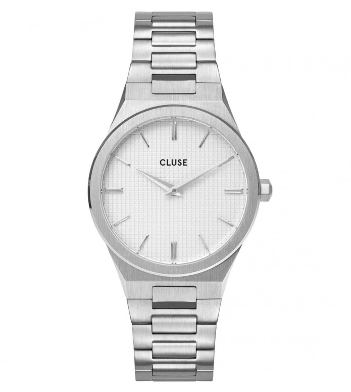 Cluse Cluse Watch Vigoureux 33 H-Link silver/snow white silver