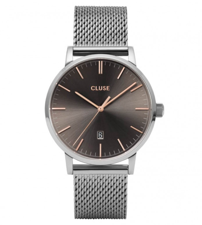 Cluse Cluse Watch Aravis Mesh silver/dark grey silver