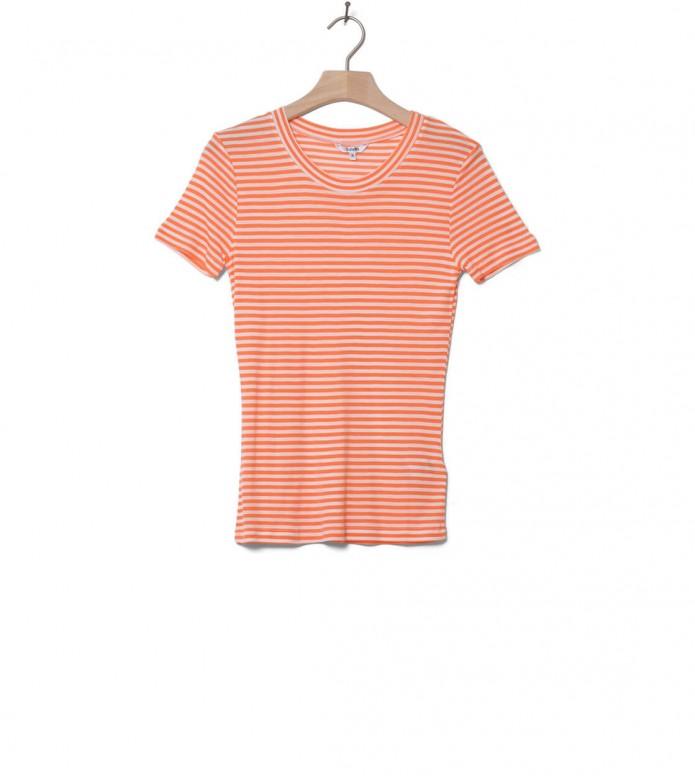 MbyM W T-Shirt Samira orange sunkissed sugar stripe XS