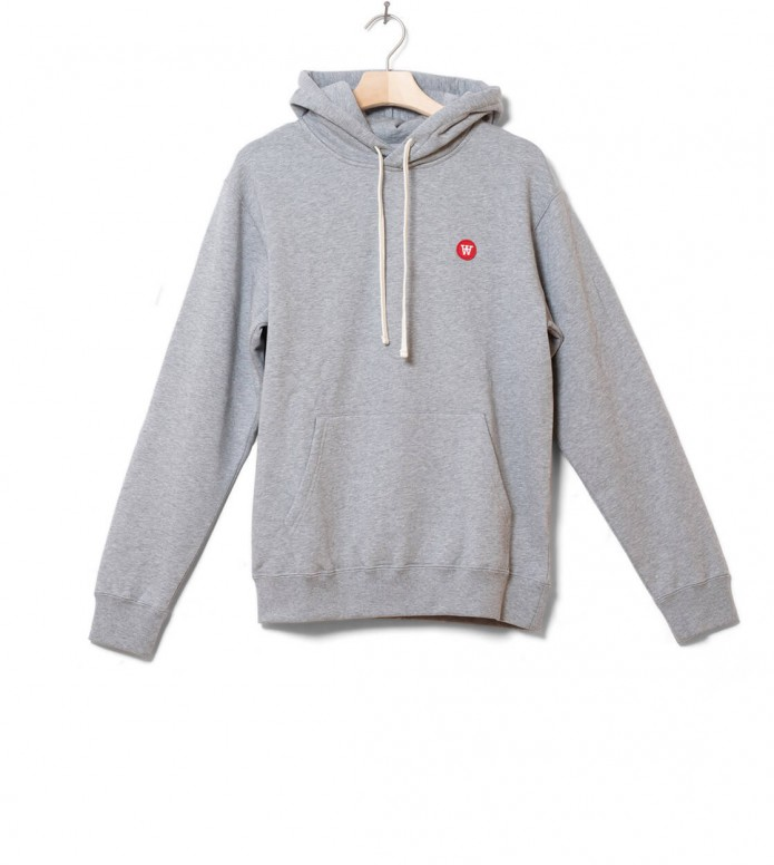 Wood Wood Hooded Ian grey melange S