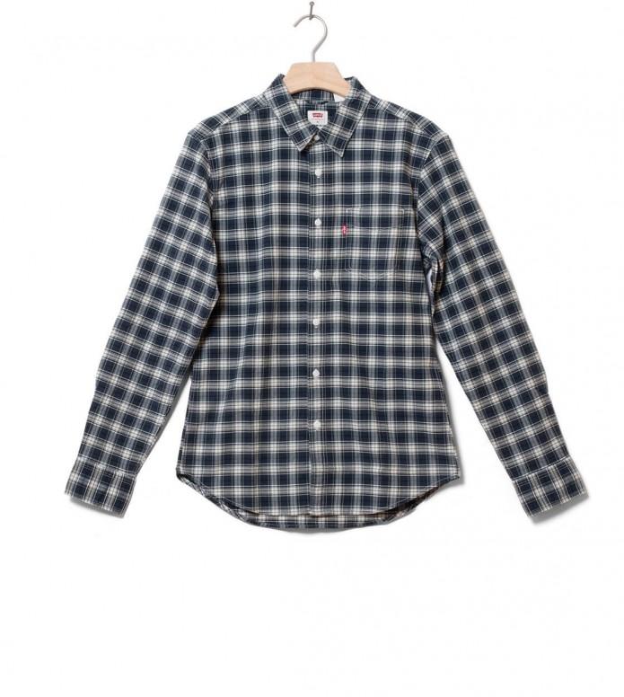 Levis Levis Shirt Sunset 1 Pocket blue antonio mineral black