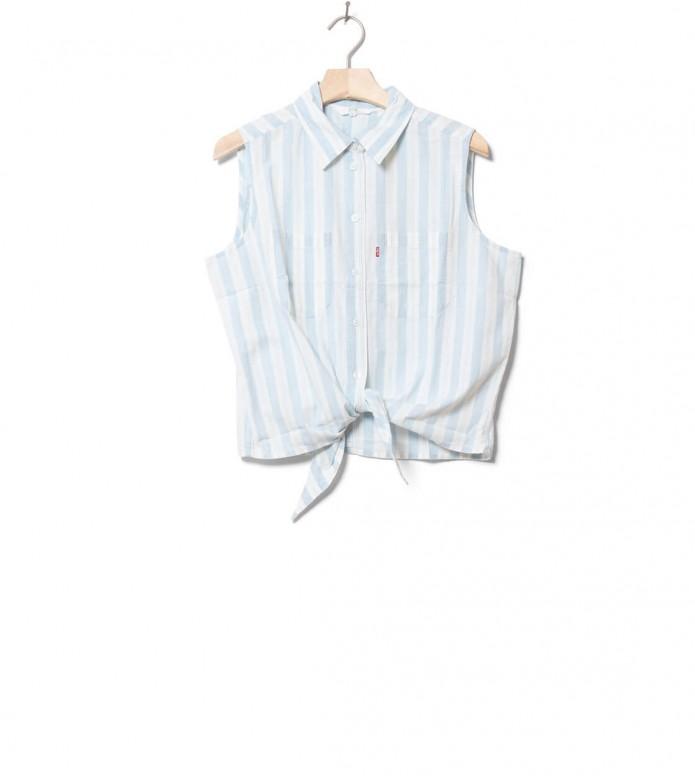 Levis W Shirt Alina Tie blue amber stripe chambray XS