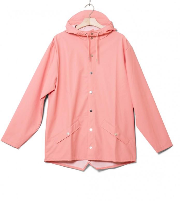 Rains Rains Rainjacket Short pink coral