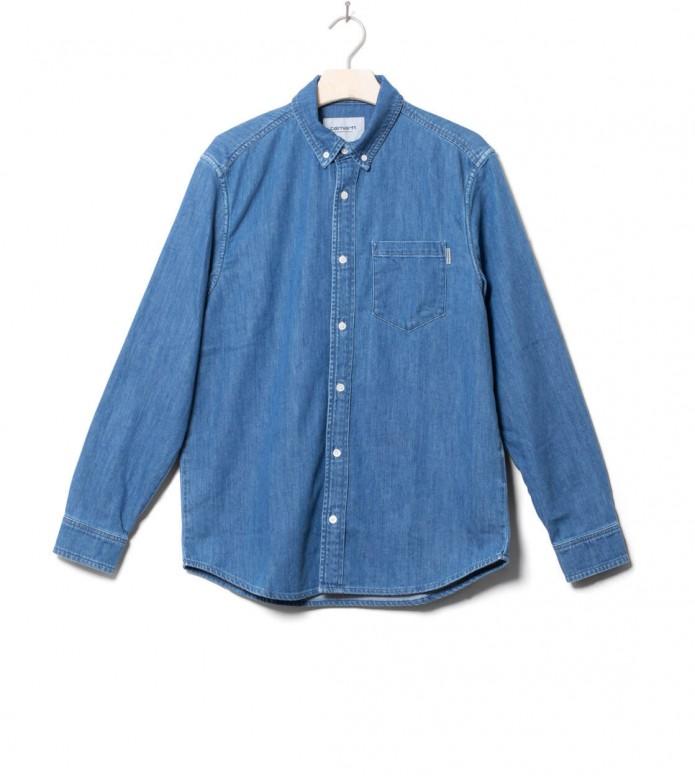 Carhartt WIP Shirt Civil blue stone washed S