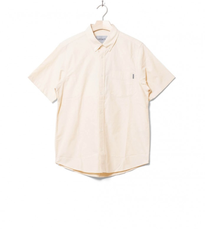 Carhartt WIP Carhartt WIP Shirt S/S Button Down Pocket beige fresco