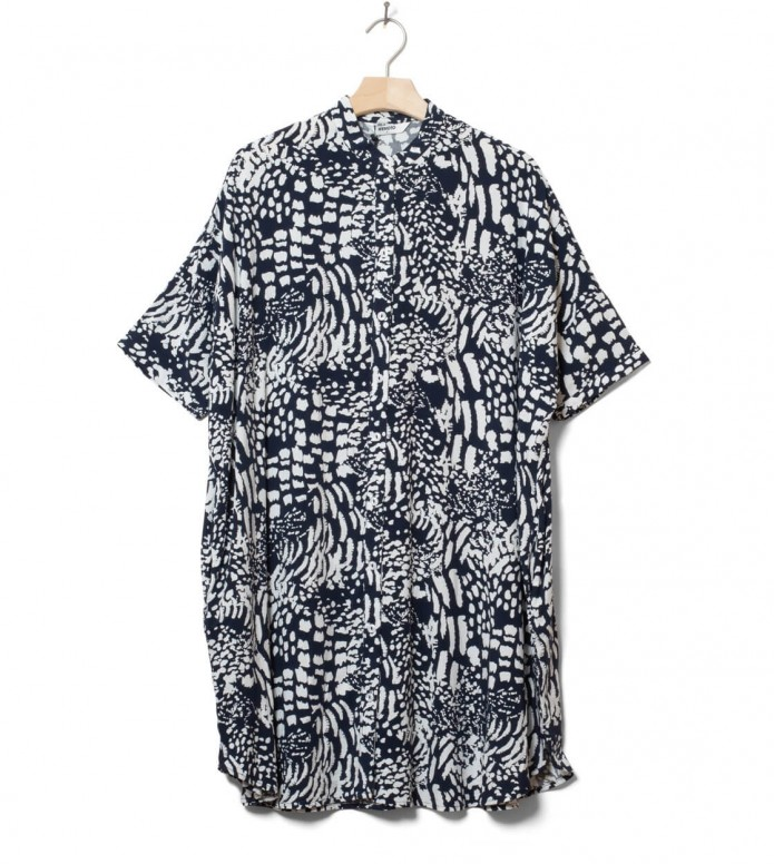 Wemoto W Dress Hume Printed blue navy-off white