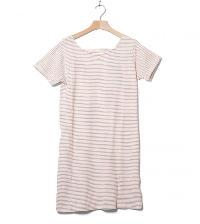 Wemoto W Dress Loner Stripe white off-red M