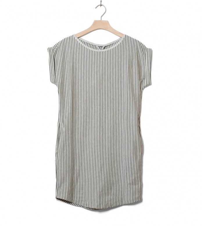 Wemoto W Dress New Kano Stripe beige sand melange black XS