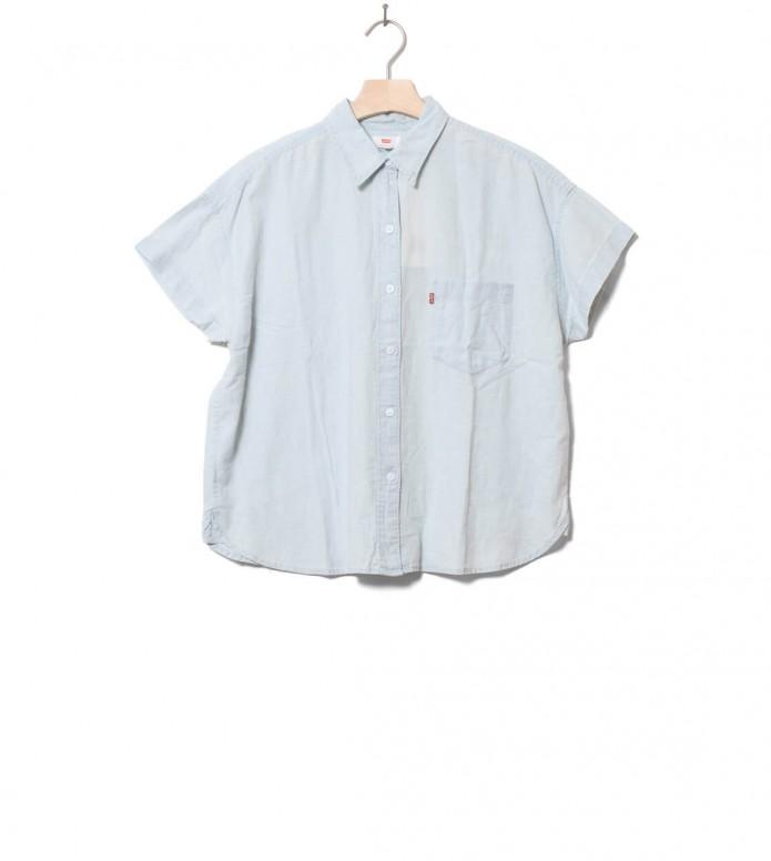 Levis W Shirt Alexandra blue light mid wash (cl) XS