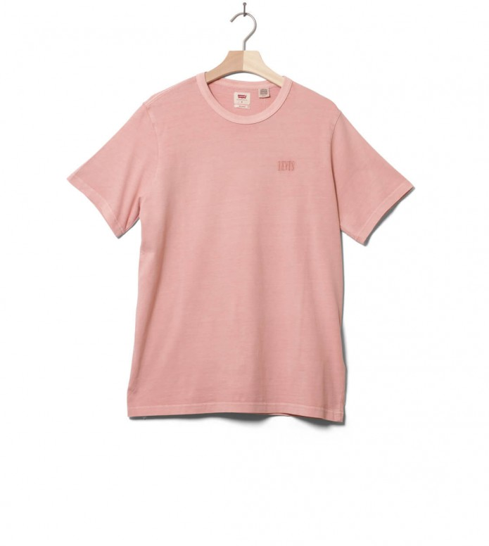 Levis T-Shirt Authentic Crewneck pink farallon x S