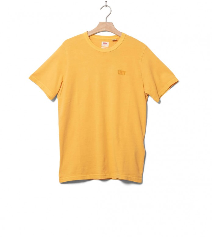 Levis T-Shirt Authentic Crewneck yellow golden apricot S