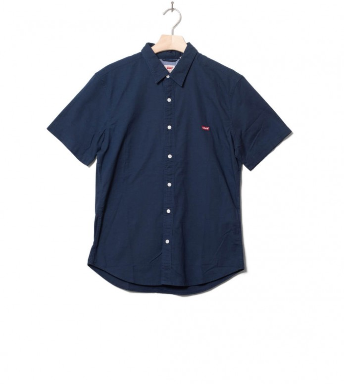 Levis Shirt S/S Battery Hm Slim blue dress blues x S