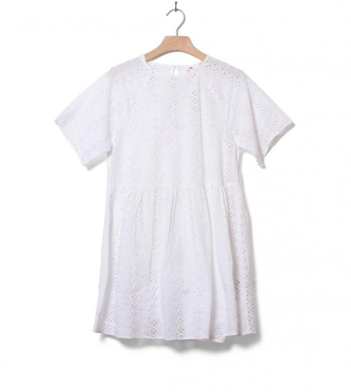 Levis W Dress Poppy white bright alejandra eyelet XS