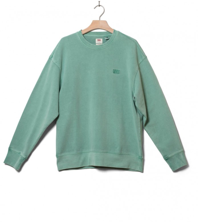 Levis Sweater Authentic Logo Crewneck green creme de menthe S
