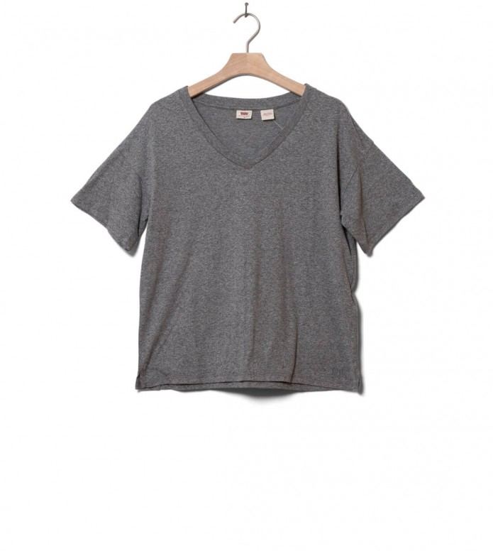 Levis W T-Shirt Good Times V-Neck grey smokestack heather XS