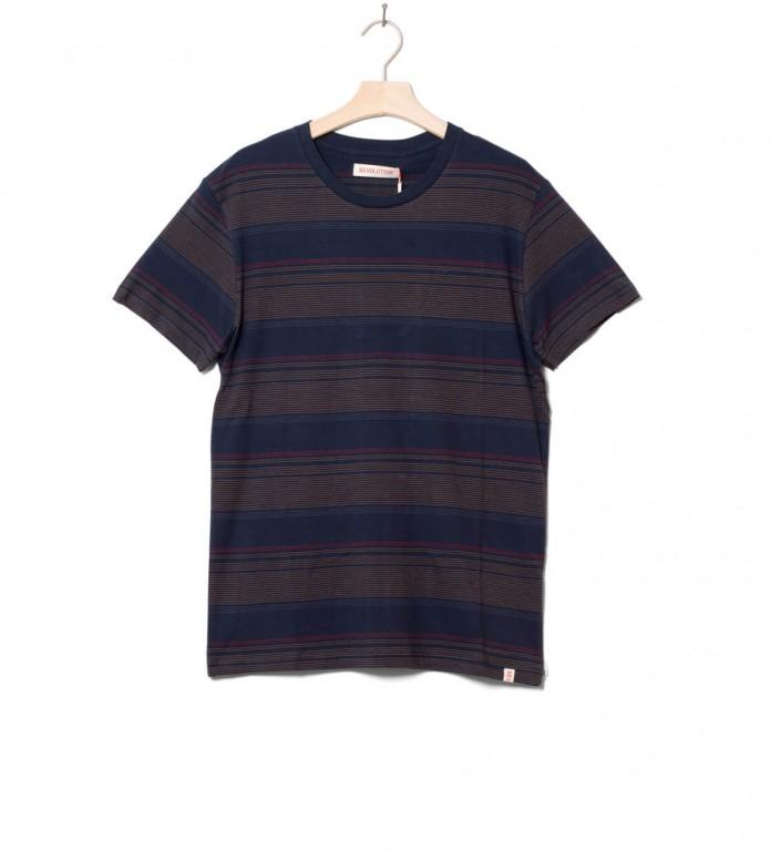 Revolution T-Shirt 1196 Striped blue navy XL