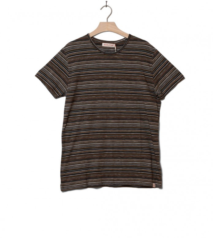Revolution T-Shirt 1197 Striped brown S