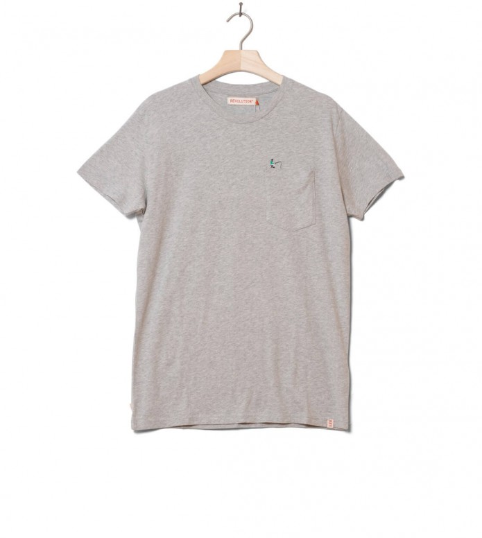 Revolution T-Shirt 1196 FIS grey melange L