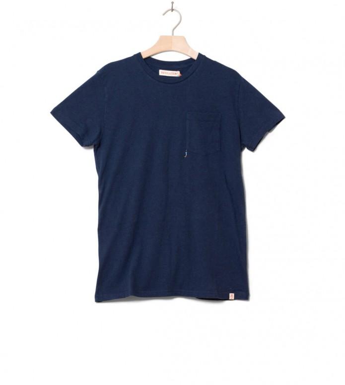 Revolution T-Shirt 1199 ICE blue navy melange S