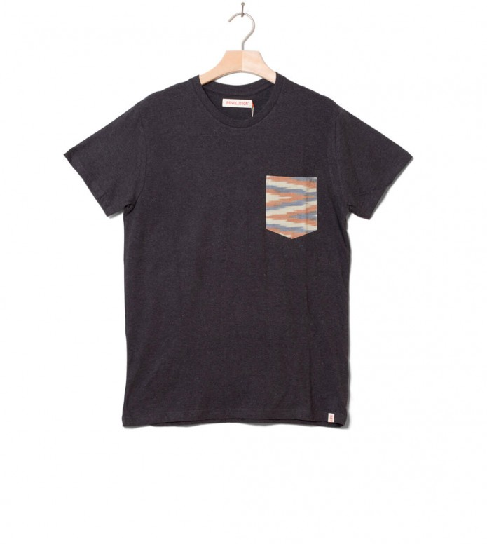 Revolution T-Shirt 1205 Contrast grey dark S