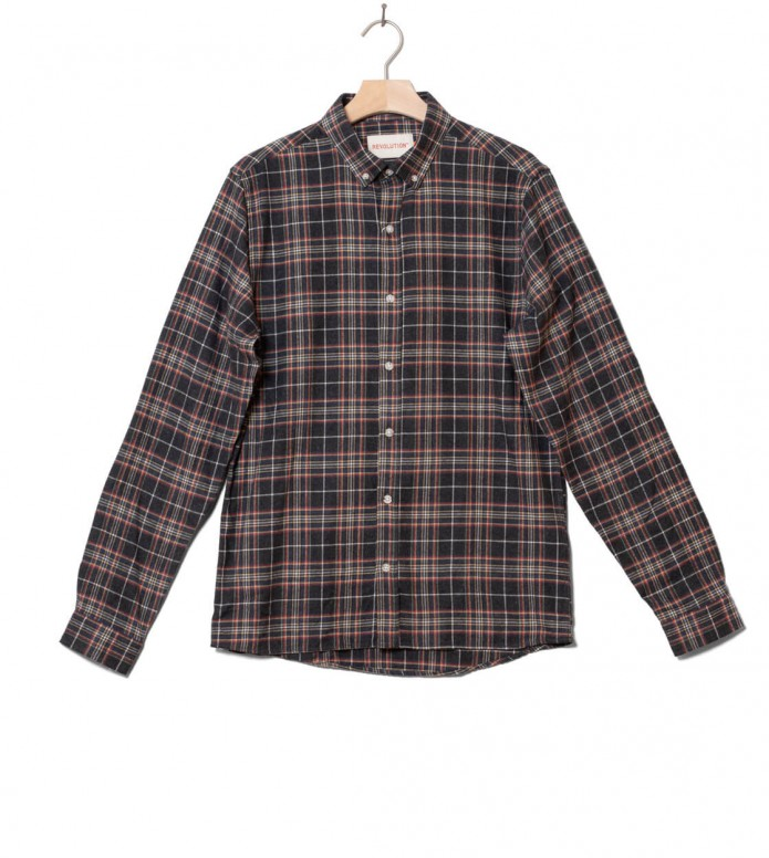 Revolution Shirt 3775 grey dark navy S