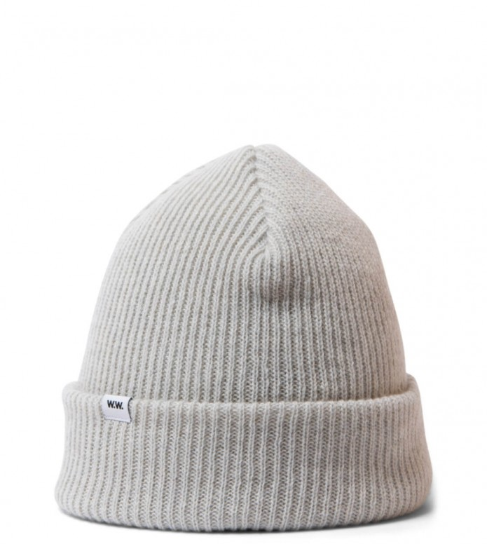 Wood Wood Beanie Mande grey off white one size