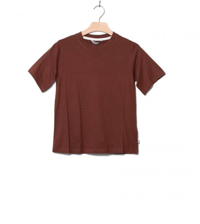 Wemoto Wemoto W T-Shirt Bleu brown maroon