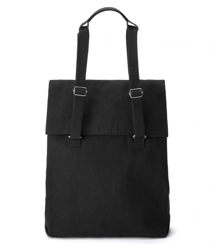 Qwstion Qwstion Bag Flap Tote Medium black all