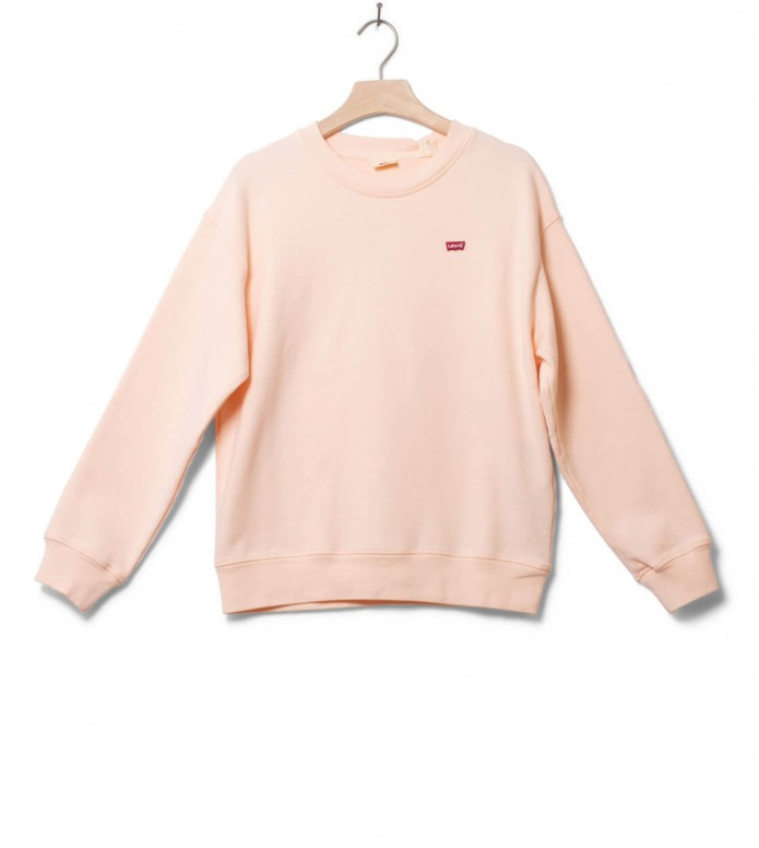 Levis Levis W Sweater Standard Crew pink scallop shell