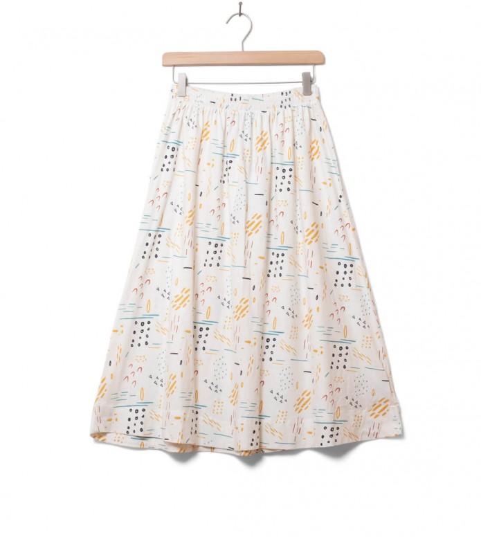 Wemoto W Skirt Tres Printed white off XS