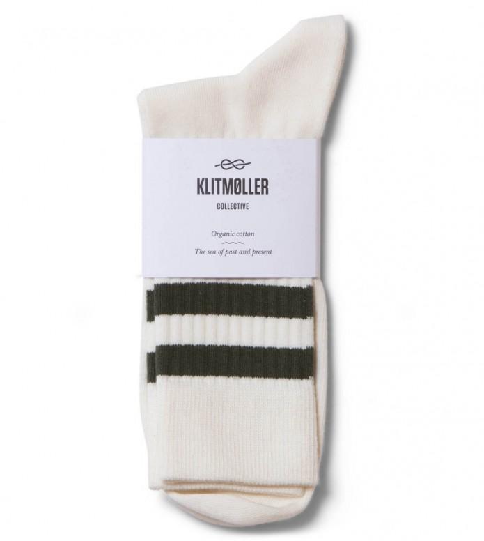 Klitmoller Socks Retro beige cream/olive 35-40