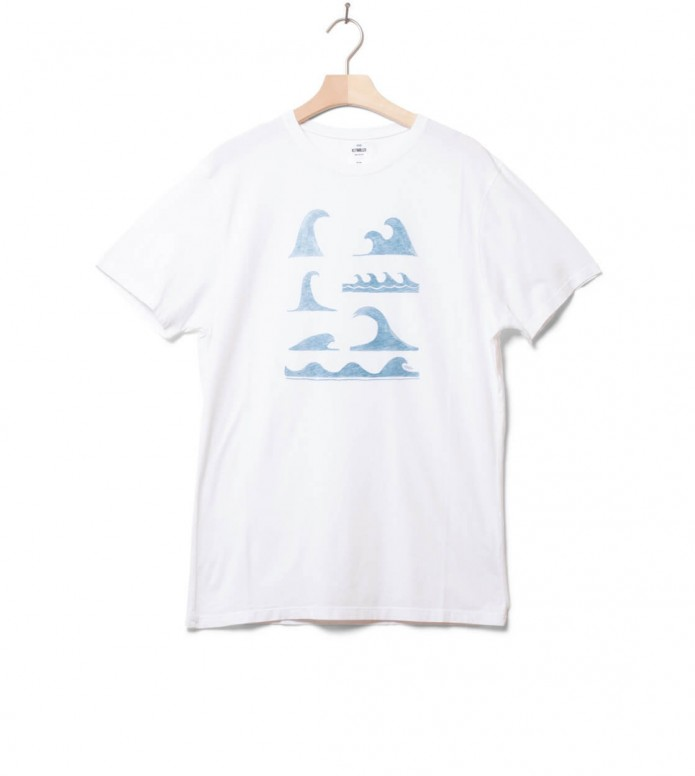 Klitmoller T-Shirt Lars white/petrol S