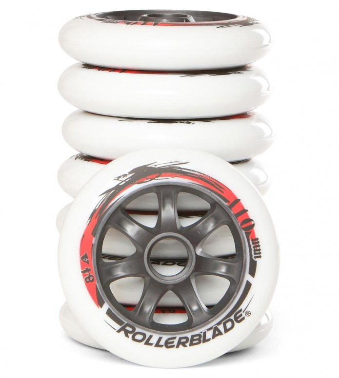 Rollerblade Wheels Neutro 8 pack white 110mm/84A