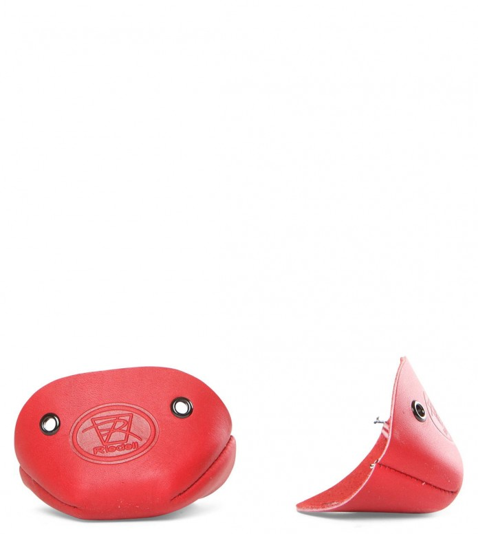 Riedell Accessories Leather Toe Cap red Pair