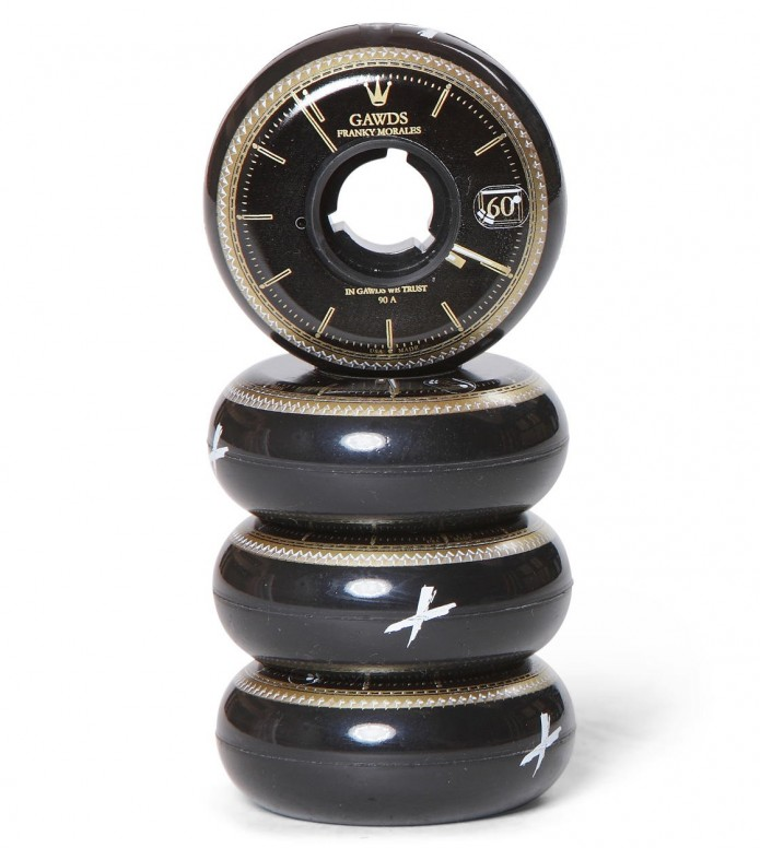 Gawds Wheels Pro Frank Morales black/gold 60mm/90A
