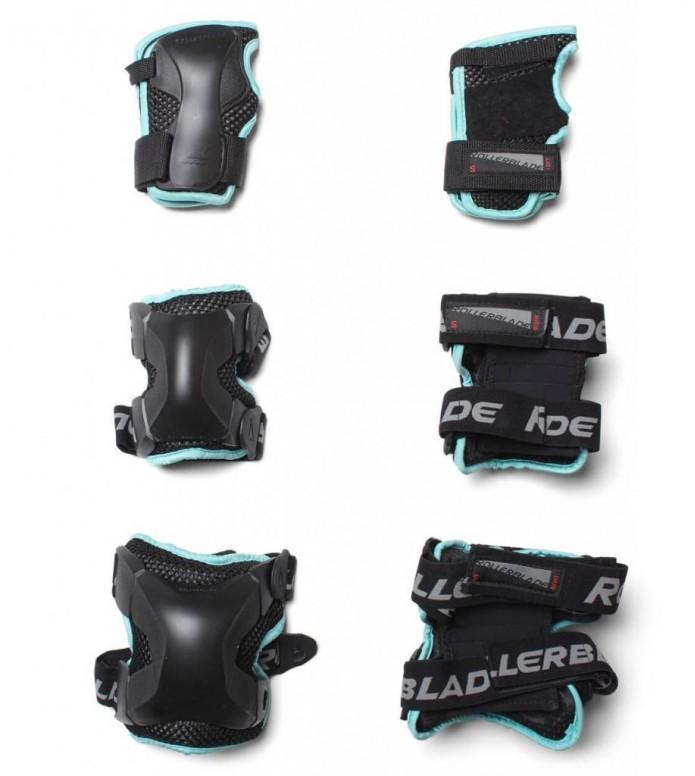 Rollerblade W Protection X-Gear 3 Pack black/aqua S