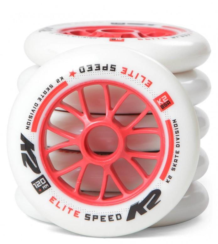 K2 Wheels Elite 125er white/red 4x125/2x120mm/85A