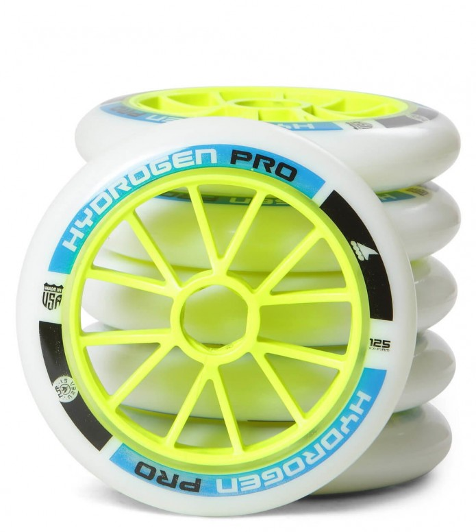 Rollerblade Wheels Hydrogen Pro XX Firm 125er white/blue/green 125mm