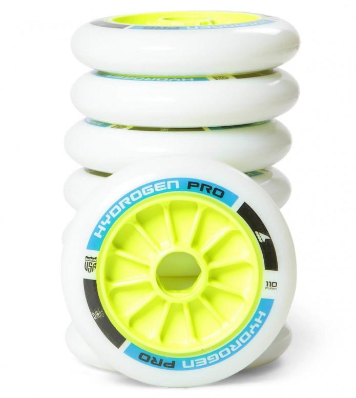 Rollerblade Wheels Hydrogen Pro XX Firm 110er white/blue/green